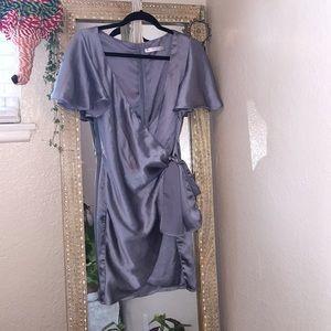 Gorgeous baby blue silk dress